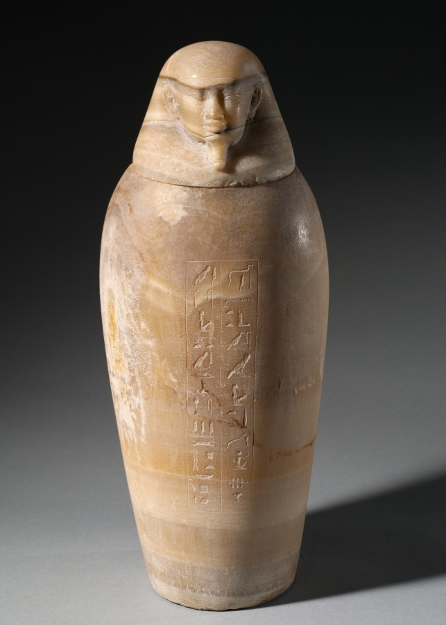 Canopic Jar With Mans Head Cleveland Museum Of Art
